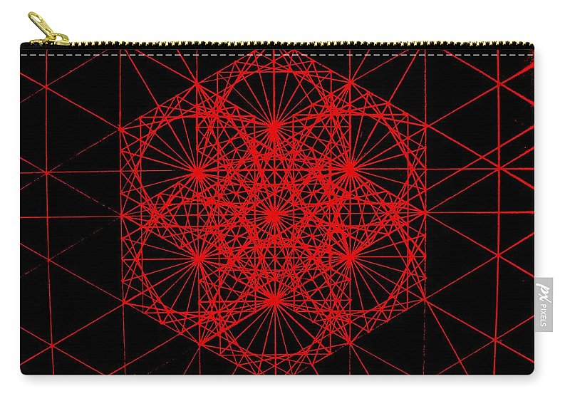 Koch.snowflake Carry-all Pouch featuring the drawing Snowflake Shape Comes From Frequency And Mass by Jason Padgett