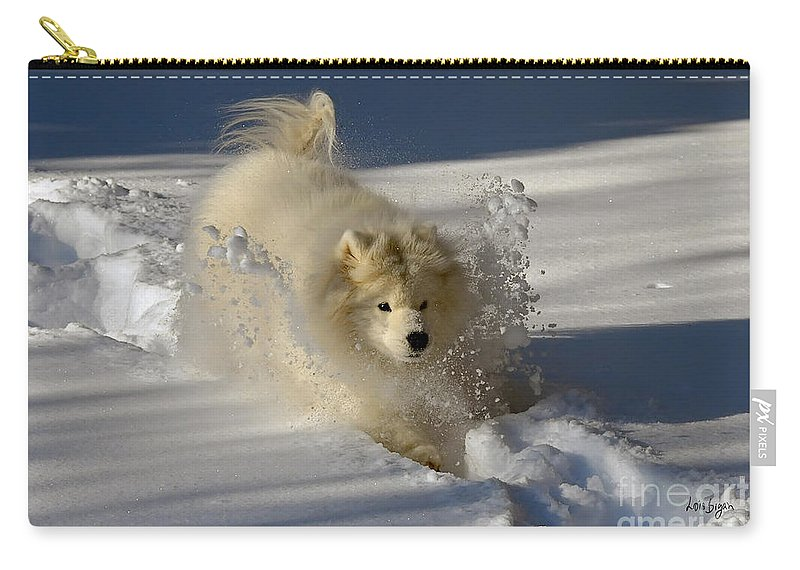 Snow Carry-all Pouch featuring the photograph Snowplow by Lois Bryan