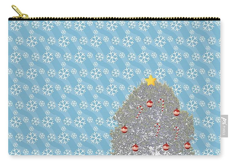 Snowy Carry-all Pouch featuring the photograph Snowy Christmas by Tara Potts