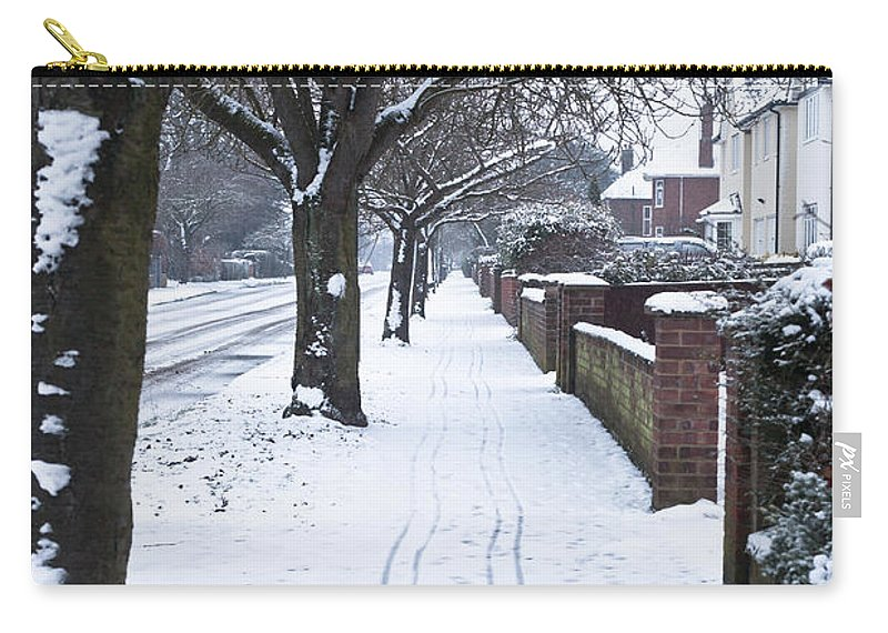Avenue Carry-all Pouch featuring the photograph Snowy Path by Tom Gowanlock