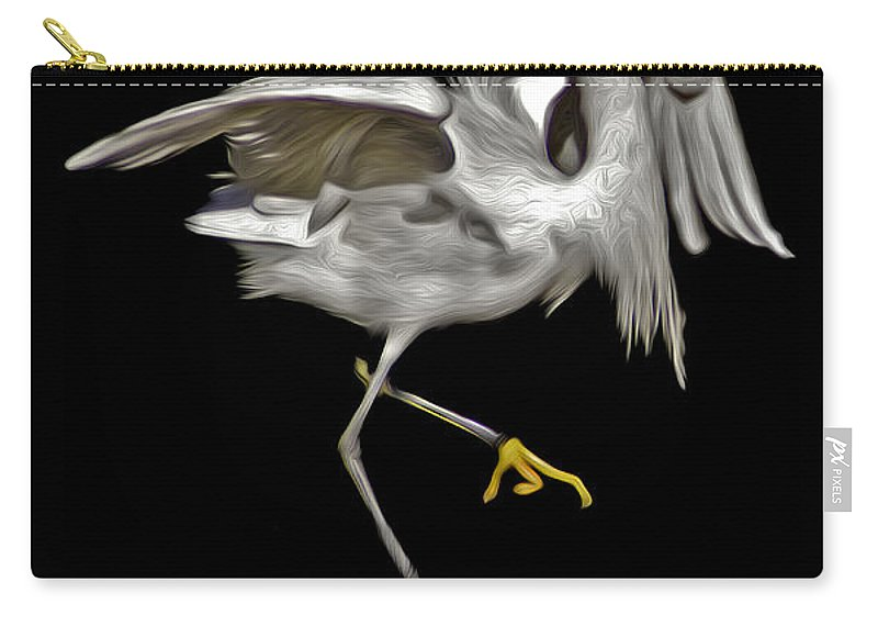 Snowy Egret Carry-all Pouch featuring the photograph Snowy Pixel by James Ekstrom