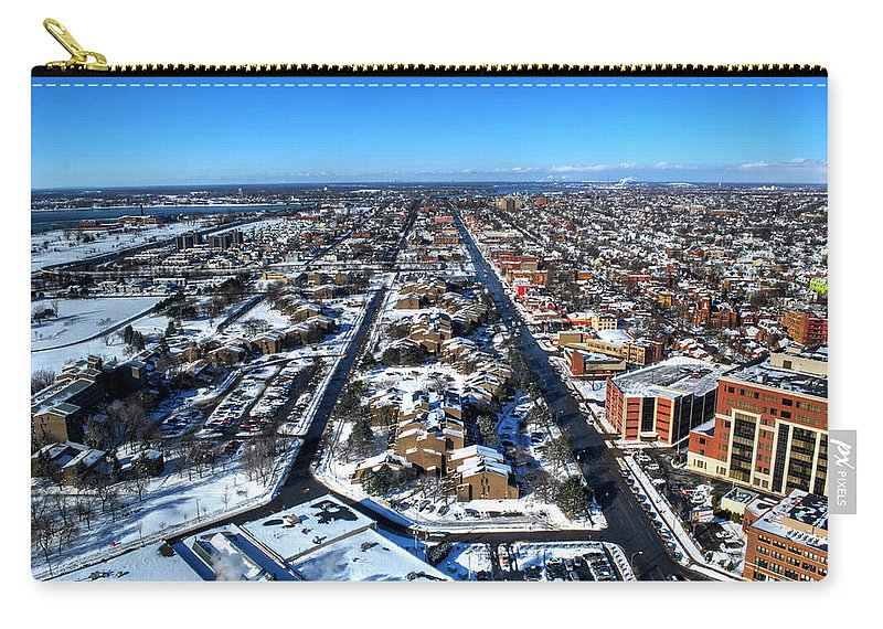 Winter Carry-all Pouch featuring the photograph Snowy West Side Winter 2013 by Michael Frank Jr