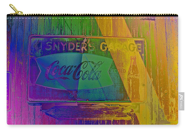 Carry-all Pouch featuring the photograph Snyders Garage by David Pantuso