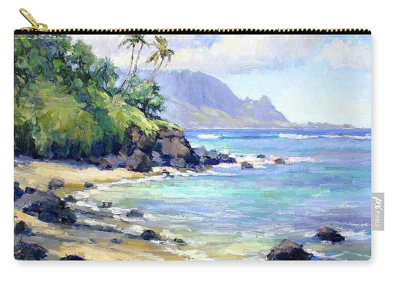 Hawaii Carry-all Pouch featuring the painting So Many Magic Colors by Jenifer Prince