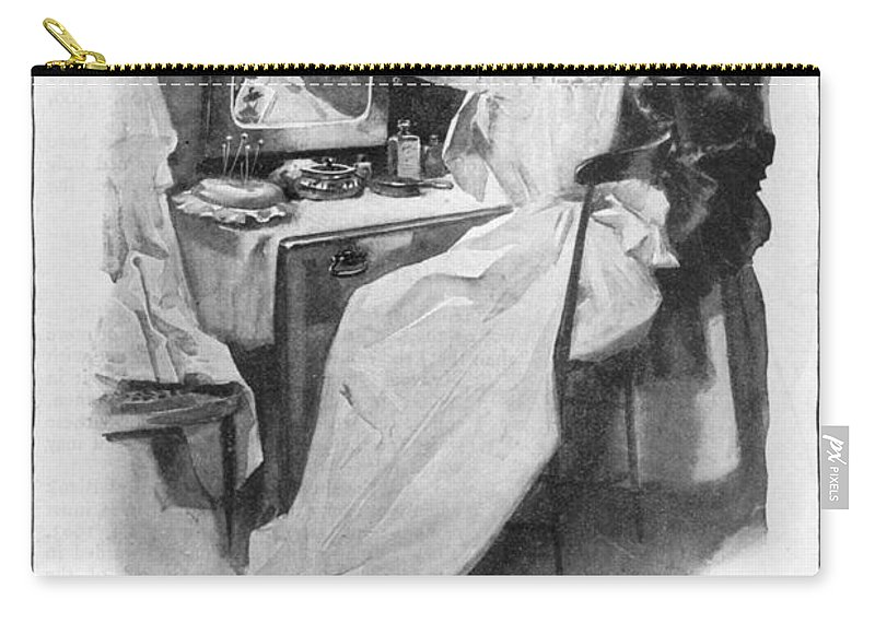1902 Carry-all Pouch featuring the photograph Soap Advertisement, 1902 by Granger