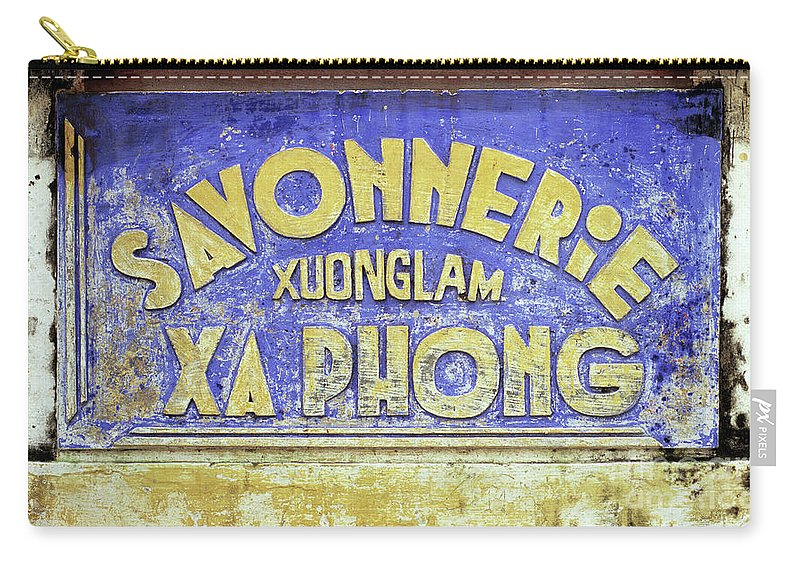 Weathered Carry-all Pouch featuring the photograph Soap Factory Sign by Rick Piper Photography