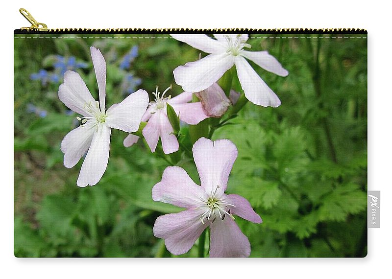 Herb Carry-all Pouch featuring the photograph Soapwort Flowers by MTBobbins Photography