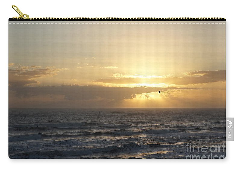 Sunrise Carry-all Pouch featuring the photograph Soaring Sunrise by Megan Cohen