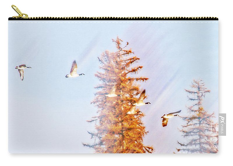 Ducks Carry-all Pouch featuring the photograph Soaring To New Heights by Janie Johnson