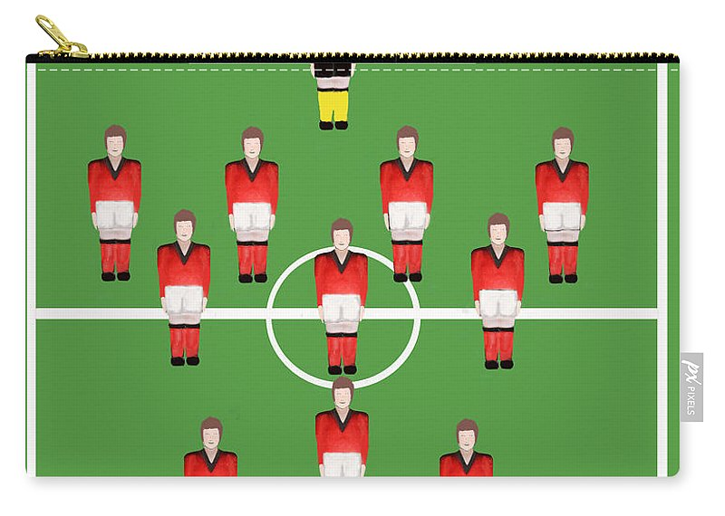 Soccer. Football Carry-all Pouch featuring the digital art Soccer Team Football Players by Tom Conway