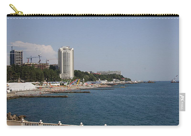Harbor Carry-all Pouch featuring the photograph Sochi Bathing Resort At The Black Sea by Christiane Schulze Art And Photography