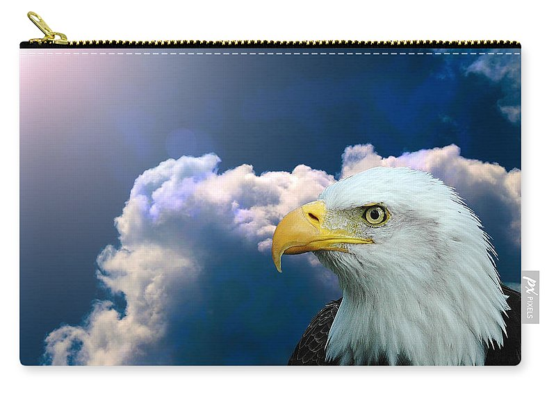 Eagle Carry-all Pouch featuring the digital art Social Justice by Robert Orinski