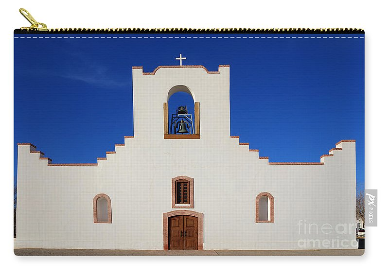 Socorro Carry-all Pouch featuring the photograph Socorro Mission La Purisima Texas by Bob Christopher