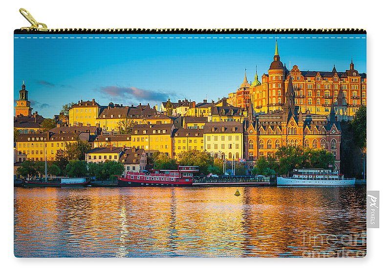 Europe Carry-all Pouch featuring the photograph Sodermalm Skyline by Inge Johnsson