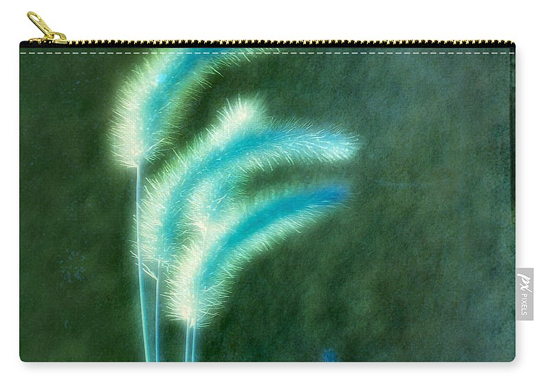 Grass Carry-all Pouch featuring the photograph Soft Blue Grass by Gothicrow Images