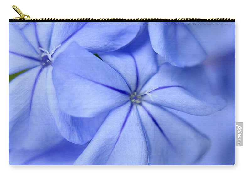Macro Carry-all Pouch featuring the photograph Soft Blue by Sabrina L Ryan