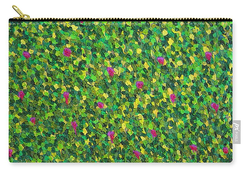 Abstract Carry-all Pouch featuring the painting Soft Green With Pink by Dean Triolo
