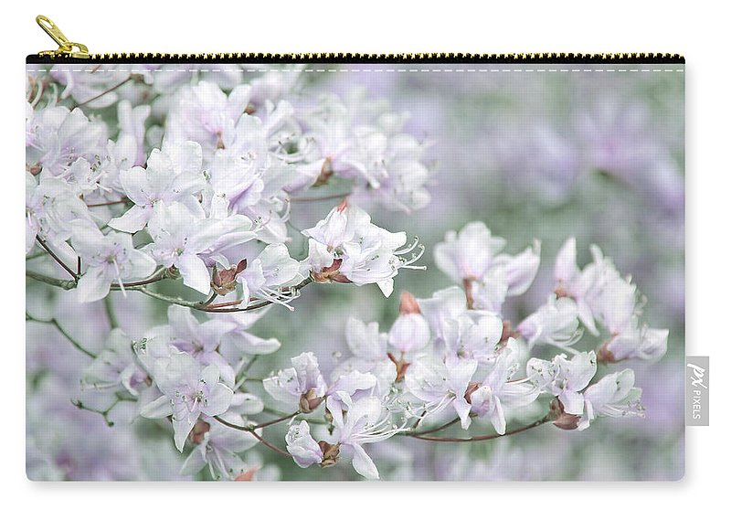 Azalea Carry-all Pouch featuring the photograph Soft Lavender Dancing Azalea Flowers by Jennie Marie Schell