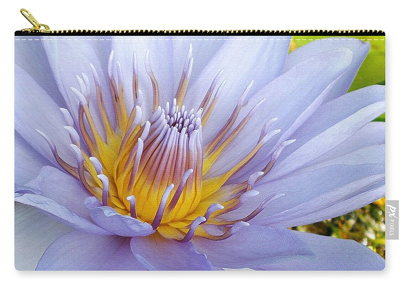 Photography Carry-all Pouch featuring the photograph Soft Mauve Waterlily by Kaye Menner