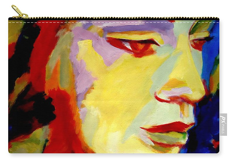 Splendid Portraits Carry-all Pouch featuring the painting Soft Shine by Helena Wierzbicki