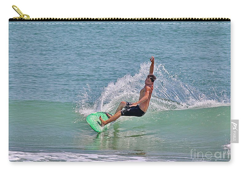 Surf Carry-all Pouch featuring the photograph Soft Surf by Deborah Benoit