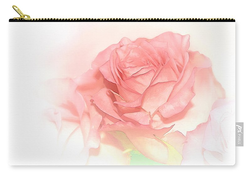 Rose Carry-all Pouch featuring the photograph Softly Pink by Bonnie Willis