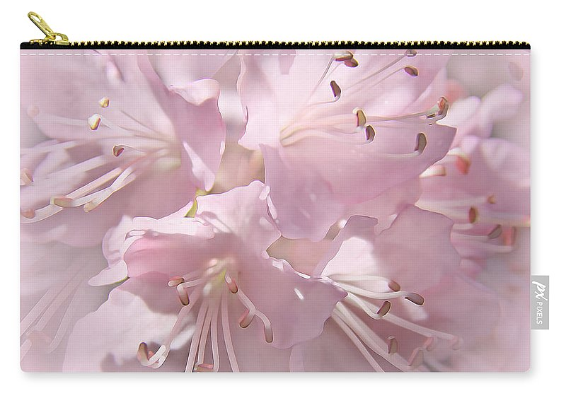 Azalea Carry-all Pouch featuring the photograph Softness Of Pink Pastel Azalea Flowers by Jennie Marie Schell