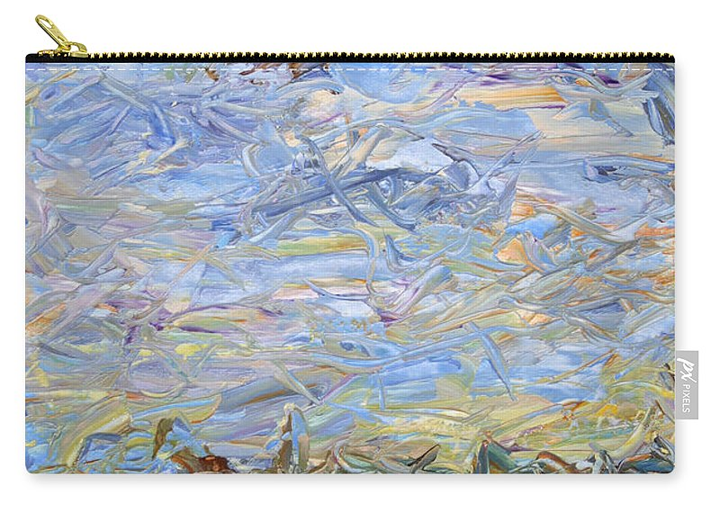Landscape Carry-all Pouch featuring the painting Soil Tumoil 2 by James W Johnson