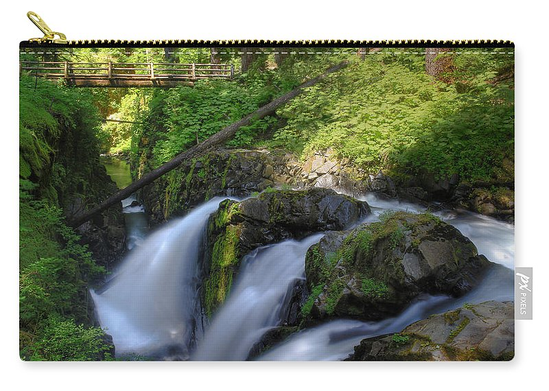 Waterfall Carry-all Pouch featuring the photograph Sol Duc Falls by John Absher