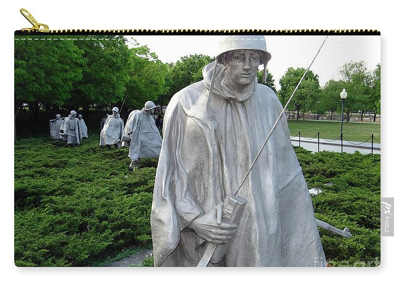 Wash Dc Carry-all Pouch featuring the photograph Soldiers by Ed Weidman
