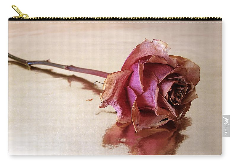 Flower Carry-all Pouch featuring the photograph Solitaire by Jessica Jenney