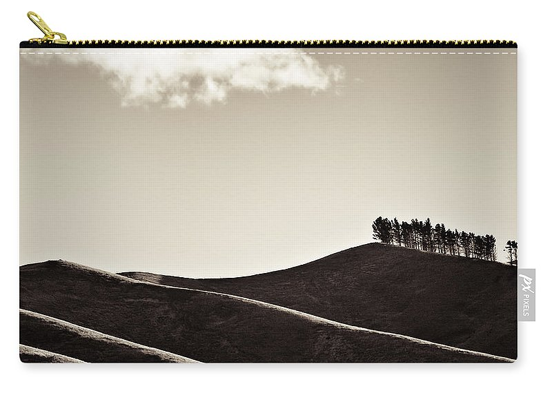 New Zealand Carry-all Pouch featuring the photograph Solitary Cloud by Dave Bowman