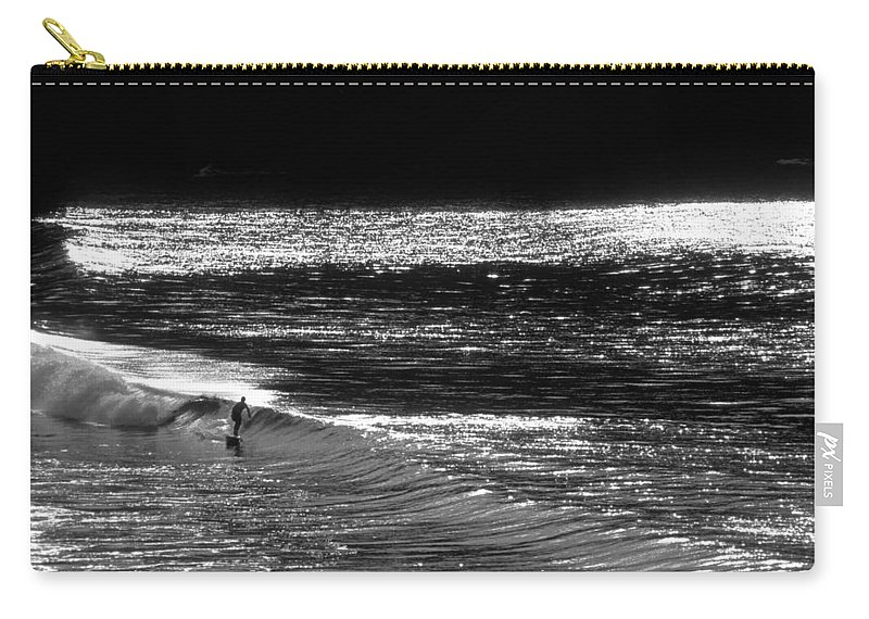 Surfers Photographs Carry-all Pouch featuring the photograph Solitary Glass by Sean Davey