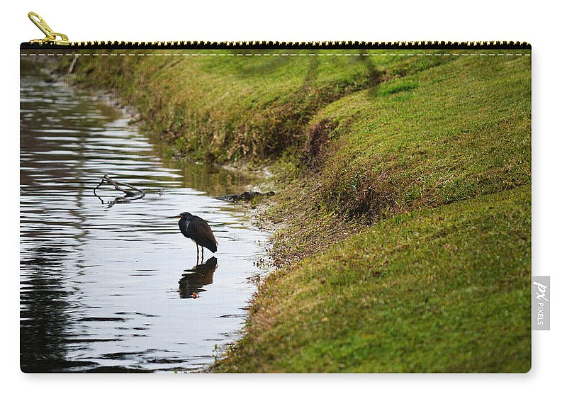 Florida Carry-all Pouch featuring the photograph Solitary by Linda Kerkau