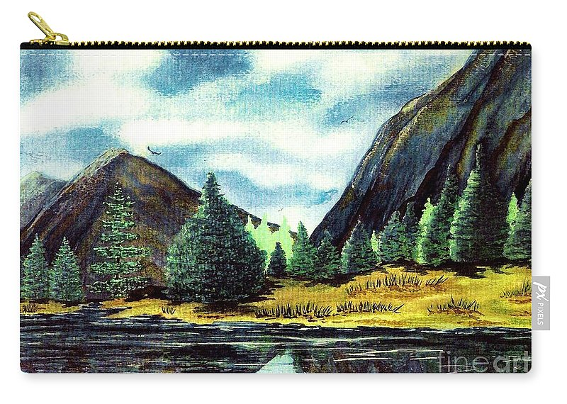Fine Art Carry-all Pouch featuring the painting Solitude by Patricia Griffin Brett