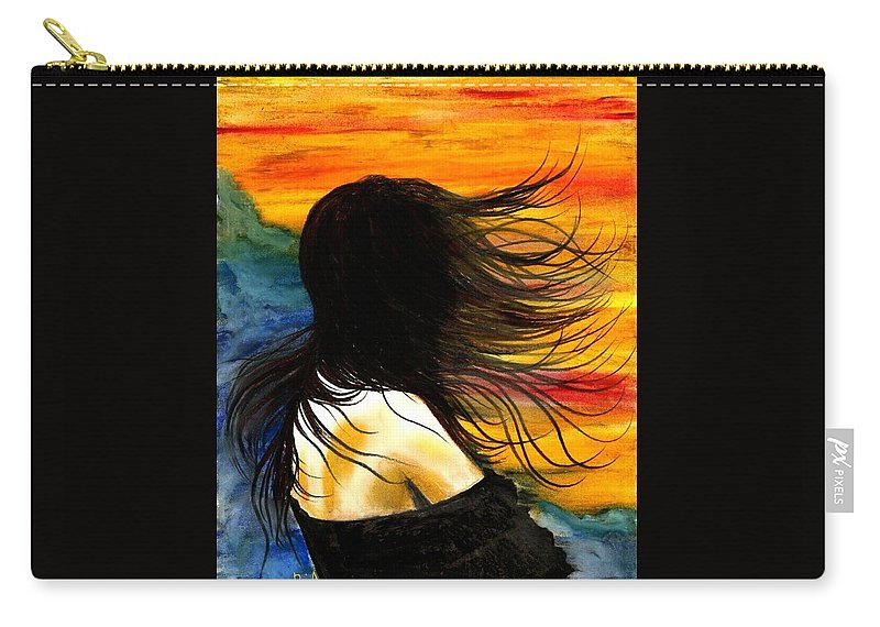 Beautiful Carry-all Pouch featuring the photograph Solo Mood by Artist RiA