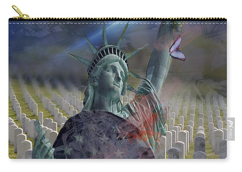 Patriotic Carry-all Pouch featuring the photograph Some Gave All... by Jayne Gohr