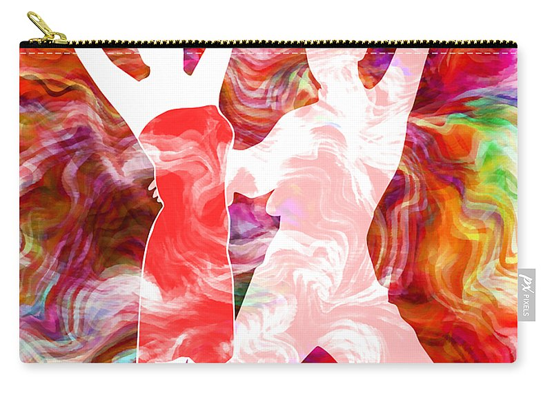 Abstract Carry-all Pouch featuring the mixed media Some Like It Hot 3 by Angelina Tamez