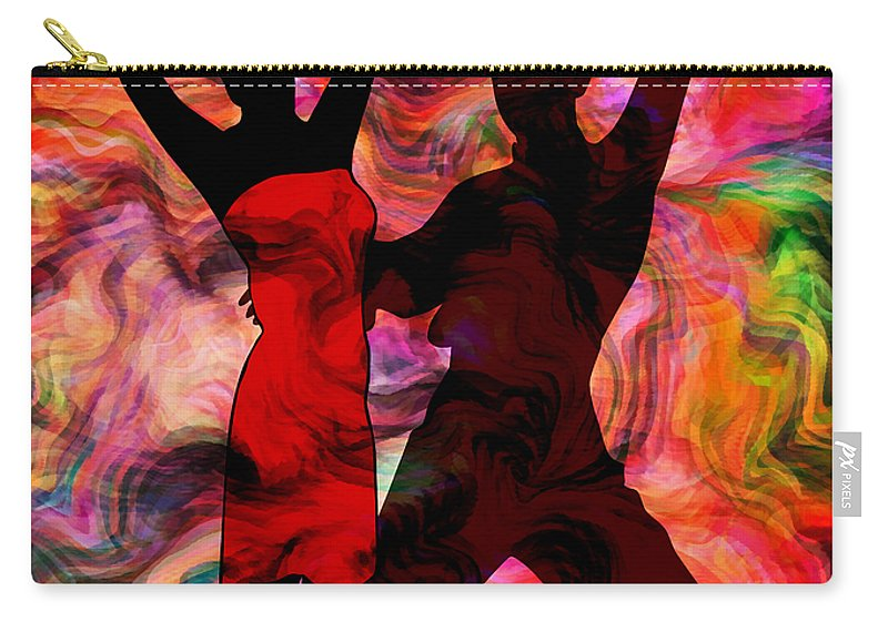 Abstract Carry-all Pouch featuring the mixed media Some Like It Hot 3 Part 2 by Angelina Tamez