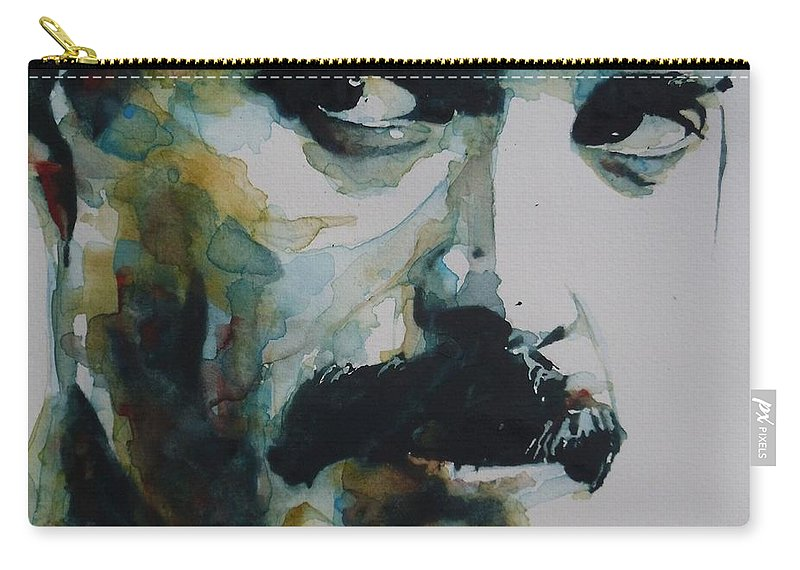 Queen Carry-all Pouch featuring the painting Freddie Mercury by Paul Lovering