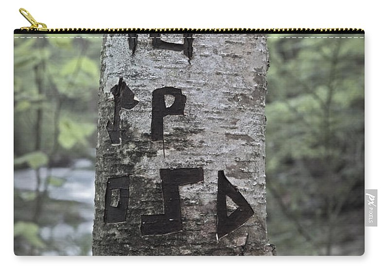 Tree Carry-all Pouch featuring the photograph Someone Was There by John Stephens