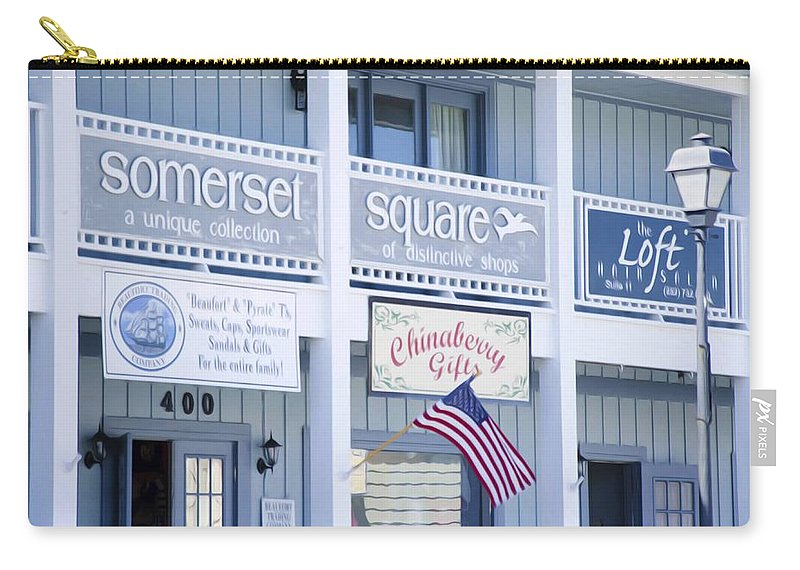 Somerset Carry-all Pouch featuring the painting Somerset Square 1 by Jeelan Clark