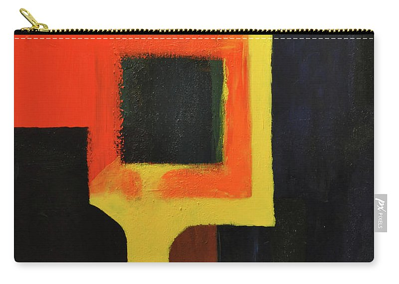 Abstract Carry-all Pouch featuring the painting Something To Do With Light by Kimberly Maxwell Grantier
