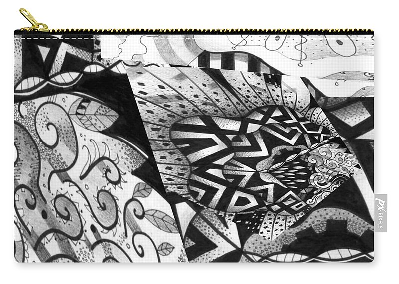 Abstract Carry-all Pouch featuring the digital art Sometimes A Mystery by Helena Tiainen