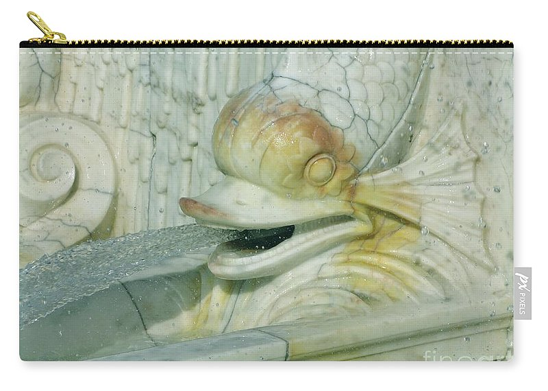 Sculpture Carry-all Pouch featuring the photograph Somewhat Fishy by Ann Horn
