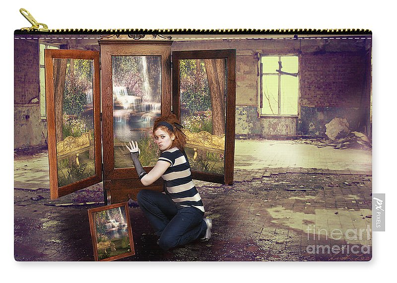 Homeless Carry-all Pouch featuring the digital art Somewhere Better by Linda Lees