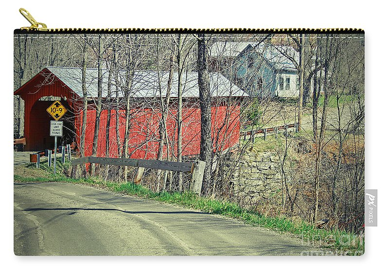 Covered Bridge Carry-all Pouch featuring the photograph Somewhere In Vermont by Deborah Benoit