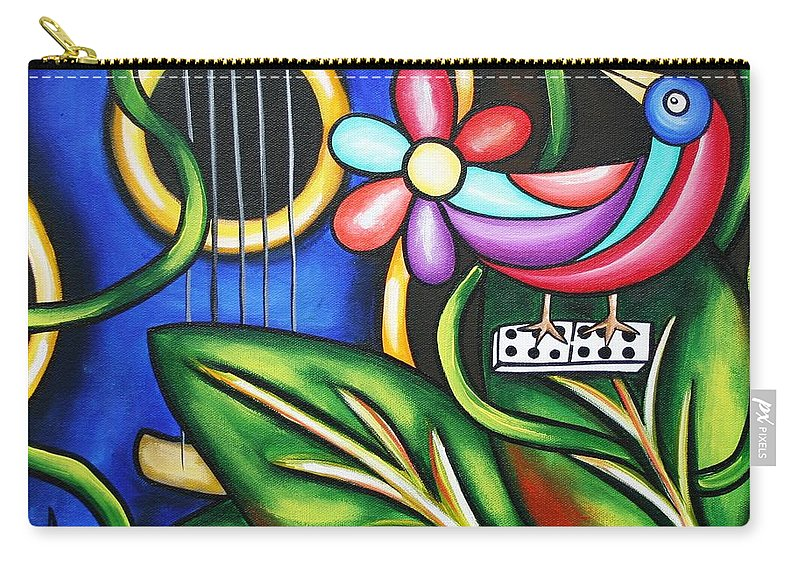 Cuba Carry-all Pouch featuring the painting Songbird by Annie Maxwell