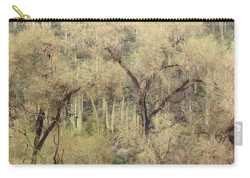 Ocotilla Carry-all Pouch featuring the photograph Soothing Desert by Laurel Powell