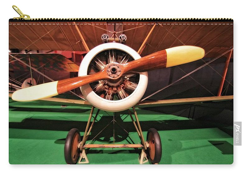 Sopwith Camel Airplane Carry-all Pouch featuring the photograph Sopwith Camel Airplane by Dan Sproul